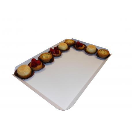 Grand plateau de cuisson blanc : 268 x 175 mm