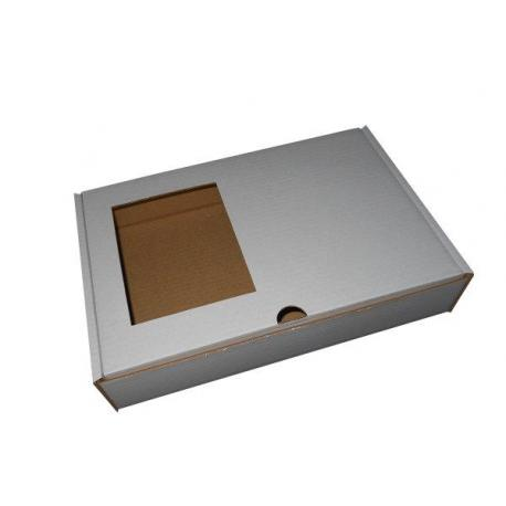 Coffret blanc pour transport de plateau de présentation avec petits fours