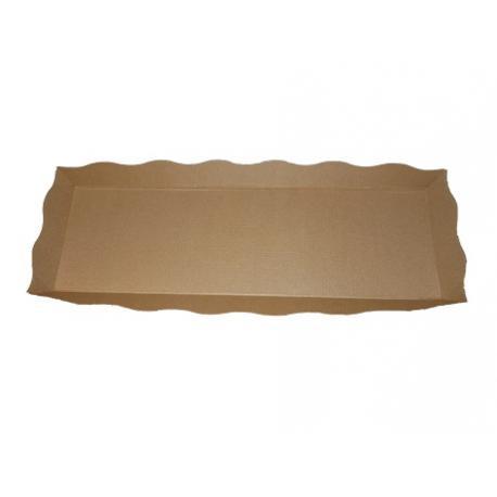 Plateau de présentation et cuisson kraft bio pour petits fours, mignardises, tartes en bandes