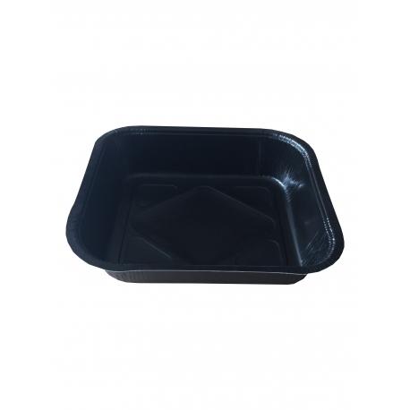Grande barquette rectangulaire noire 1500 ml