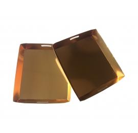 Plateau de présentation doré 200 x 180 x 27 mm
