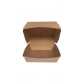 Petite boîte burger kraft : 100 x 100 x 38 mm