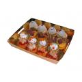 PACK Plateau de présentation doré pour petits fours, pâtisseries 160 x 160 x 27 mm