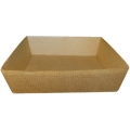 PACK Barquette kraft carrée : (petits plats chauds ou froids, salade, frites, desserts)