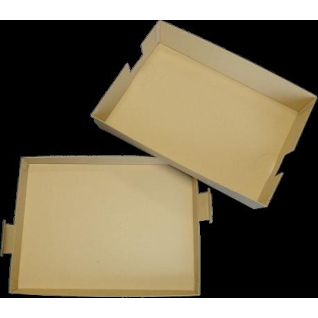 Plateau repas brun 100 % carton cellulose