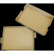 Plateau repas brun 100 % carton cellulose - lot de 25